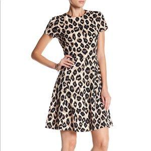 Eliza J Leopard Fit & Flare Dress